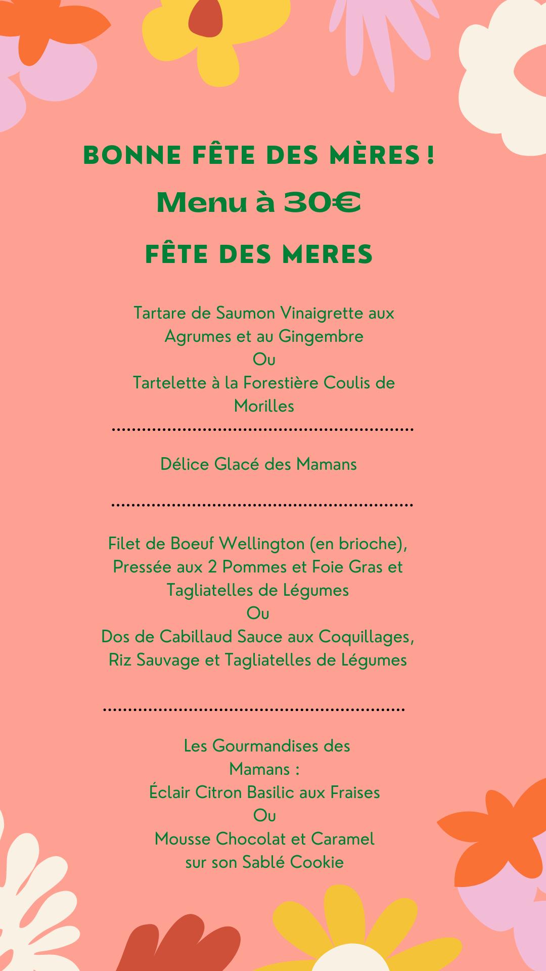 Vert Floral Fête des mères Bio Formes Instagram Story